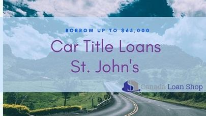 Car Title Loans St. John's
